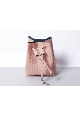 Candy Pink Leather Waist Bag