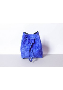 Candy Blue Leather Waist Bag