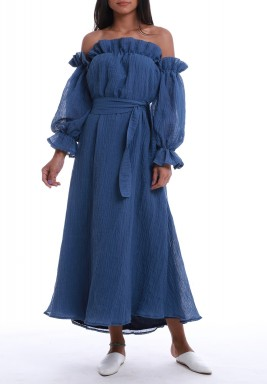 The Blue Angel Off-Shoulders Dress