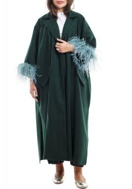 Odette green coat -Pre order
