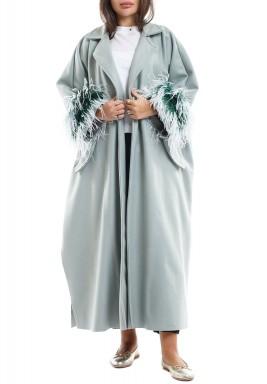 Odette pistachio coat -Pre order