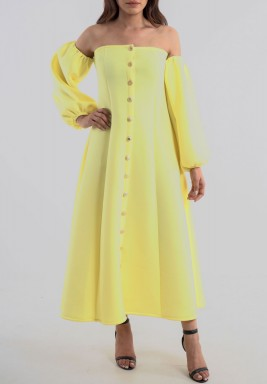Autumn yellow dress