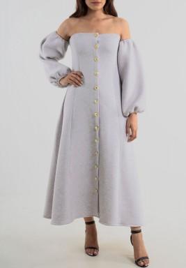 Autumn Grey Dress