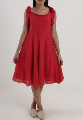 Capri Red Sleeveless Dress