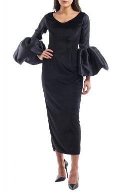 Florinda Black Bell Sleeves Kaftan