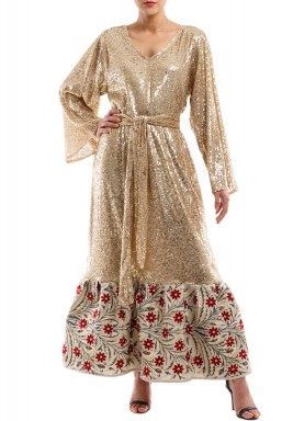 Warda golden kaftan