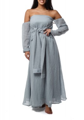 Sleeve wrap dress