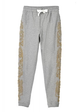 Gold detailed sweat pants