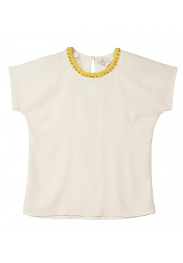 Detailed collar top