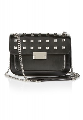 Ministudded leather bag