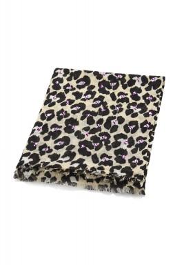 Tweedy panther scarf