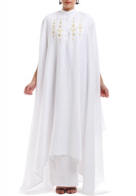Golden hilal moon kaftan