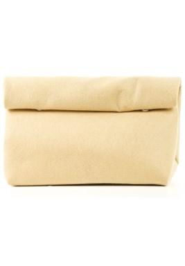 Beige felt wrap pouch