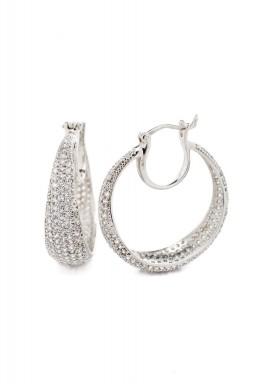 Pave hoop Earring
