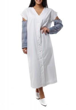 Pastel shirt dress
