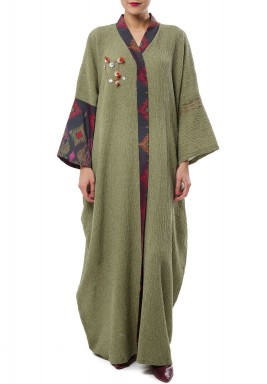 Greeny Button Kaftan