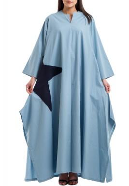 Blue side star kaftan