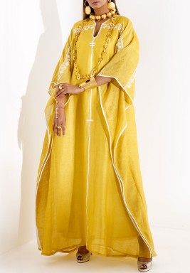 Aztec yellow kaftan