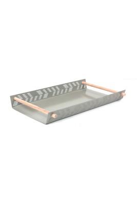 Gray Flat Tray Small