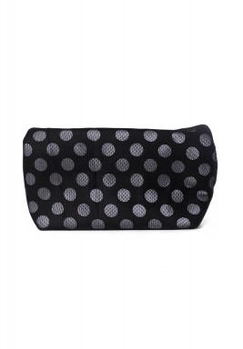 Black Polka Dot  X Large Pouch