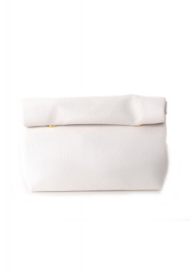 White Wrap Large Pouch