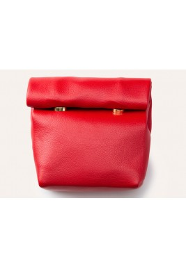 Red Mini Wrap Pouch