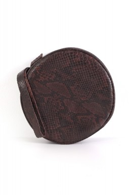 Brown Round Python Bag
