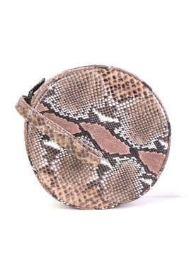 Pink Round Python Bag