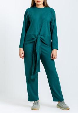 Green Loungewear Top