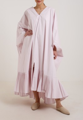 Square Pleats Dress Pink