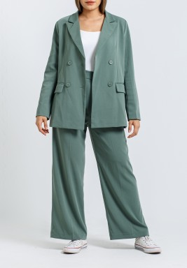 Sage Green Blazer & Pants Suit
