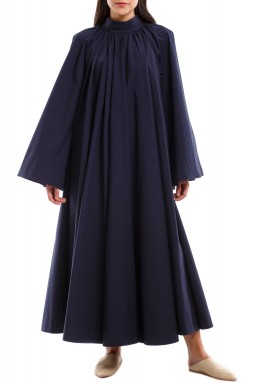 Black Pleated Midi Kaftan