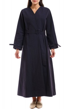 Belted Bisht with Sleeves