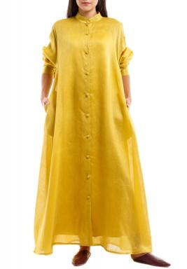 Mustard Shirt Kaftan