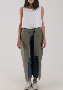 Green Warp Skirt