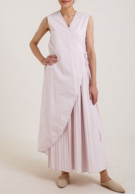 Sleeveless Wrap Dress Pink