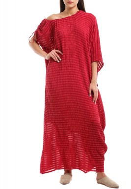 Cranberry Turkish Silk Kaftan
