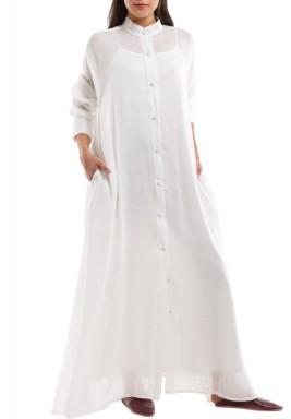 Off White Shirt Kaftan