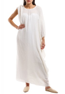 Off White Turkish Silk Kaftan