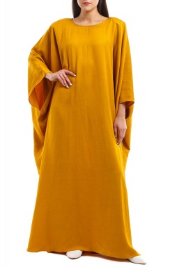 Mustard High Shoulder Kaftan