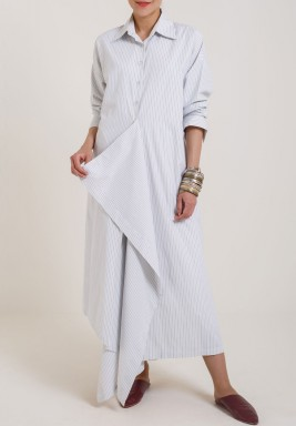 DishDasha Shirt Dress Black stripes
