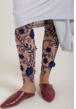 Floral Embroided Leggings