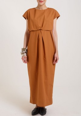 Terracotta Puffed Dress