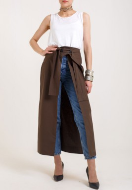 Army Green Warp Skirt