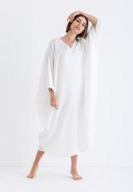 White Oversized Midi Kaftan