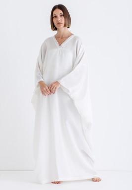 White Oversized Maxi Kaftan