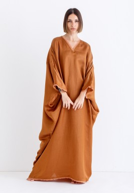Tan Oversized Maxi Kaftan