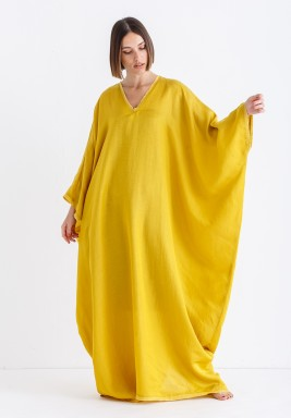 Lemon Oversized Maxi Kaftan