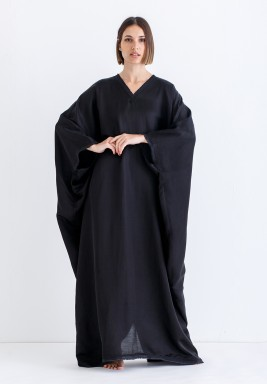 Black Oversized Maxi Kaftan