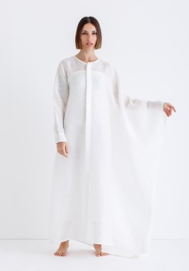 White Oversized Shirt Kaftan
